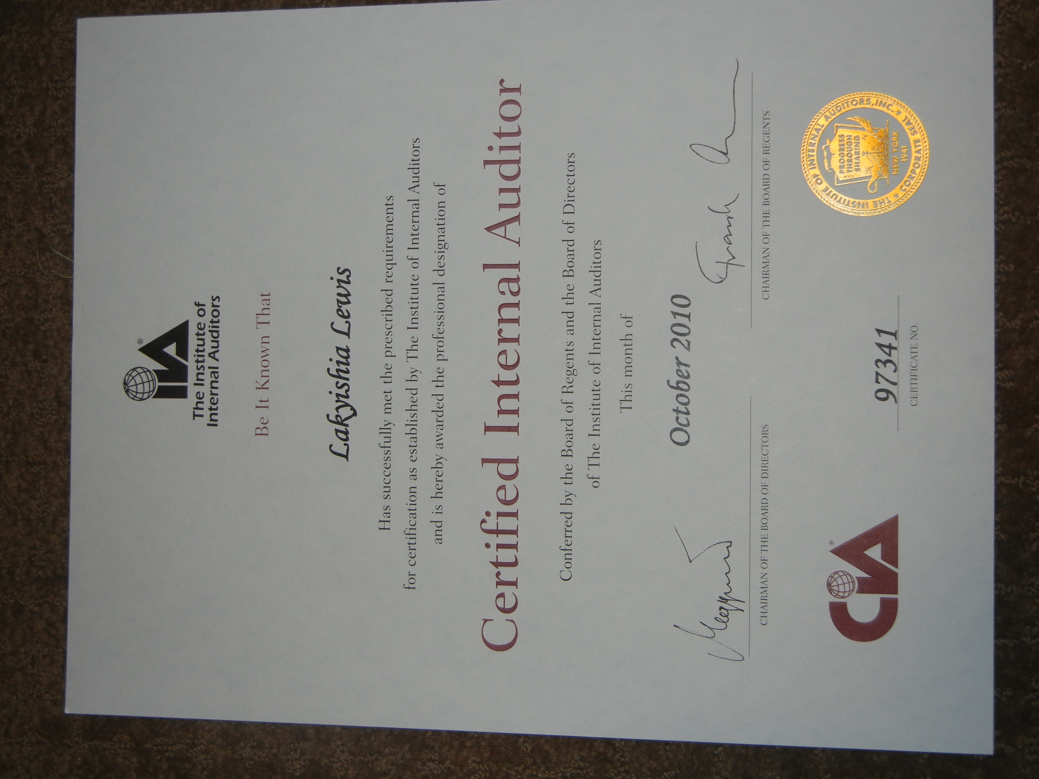 Certified And Its Official Adventures In Oz